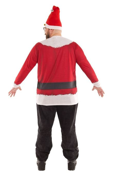 big man size santa suit tee shirt 3xl 4xl santa accessories