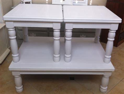White Coffee Table Set Solid Wood White Coffee Table And End Table Set Of 3 Sold Vintage Key Antiques