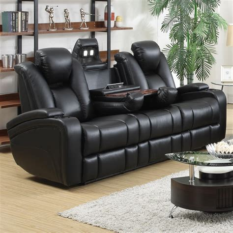 recliner couches reviews delange power reclining sofa from coaster 601741p