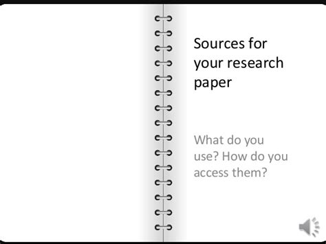 types of sources for a research paper sources for your research paper