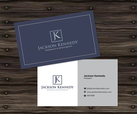 professional business card template for insurance broker with photo serious professional business card design for aaron