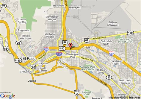 el paso texas on map map of 8 motel el paso el paso