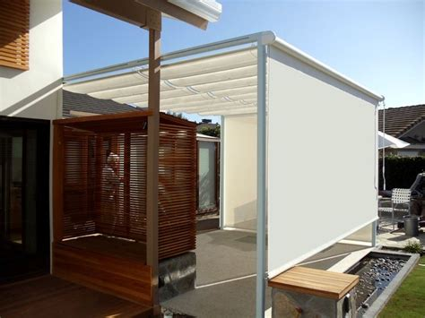 cable awnings and slide on wire canopies slide wire canopy with drop shades superior awning