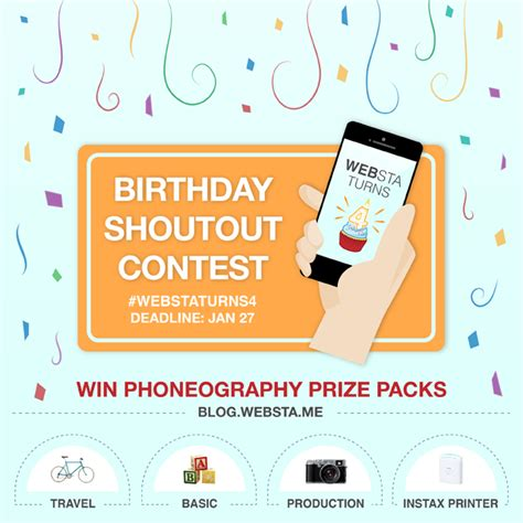 How To Win Instagram Giveaways - websta s birthday giveaway contest on instagram