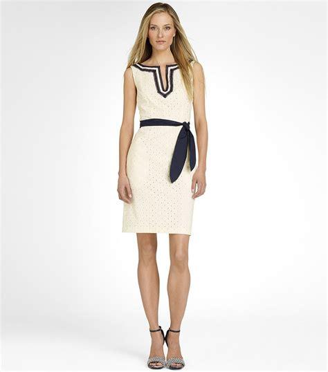 the dress tory burch sheldon dress in white lyst