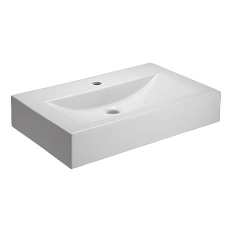 Above Counter Sinks by Shop Barclay White Clay Vessel Rectangular Bathroom