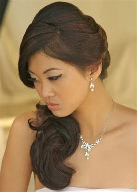 Wedding Hairstyles At The Side Side Swept Bridal Hairstyles