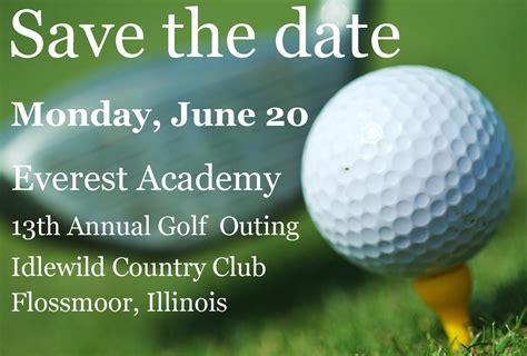 Everest Academy Lemont Blog Save The Date Golf Outing 2011 Golf Tournament Save The Date Template