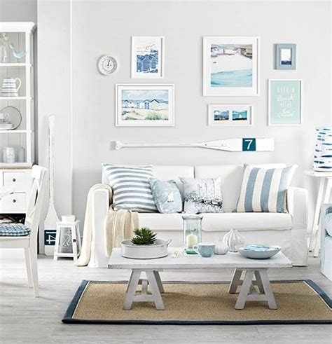living room beach decor soft blue white decor ideas to turn your living room