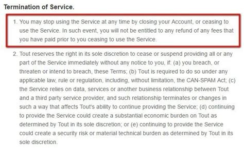 It Service Agreement Contract Template termination clause in terms and conditions termsfeed