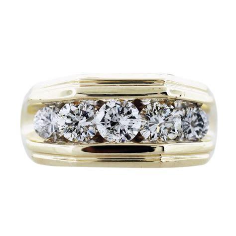 2 Carat Ring by 2 Carat 14k Yellow Gold Mens Ring Boca Raton