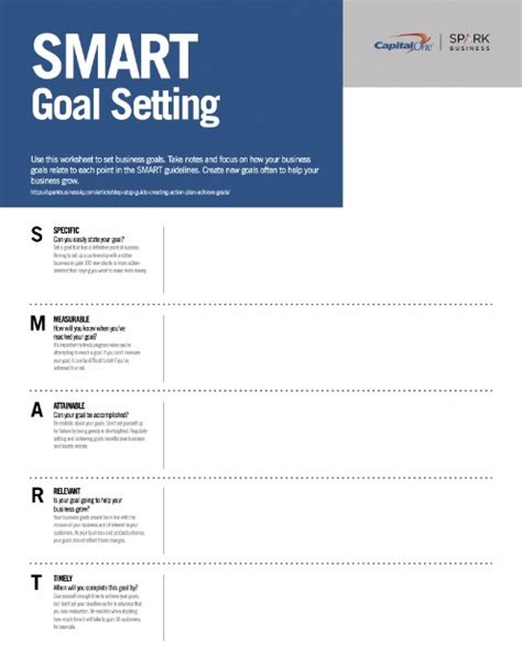 Business Goal Setting Worksheet by 11 Effective Goal Setting Templates For You