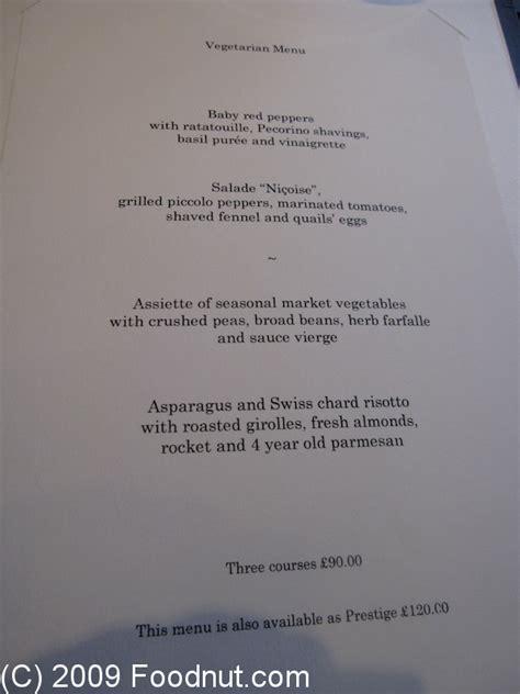 gordon ramsay royal hospital road restaurant review - Gordon Ramsay Dinner Menu