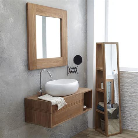 Supérieur Le Roy Merlin Meuble Salle De Bain #3: meuble-sous-vasque-suspendu-en-teck-pas-cher-tikamoon-meuble-salle-bain-brico-depot-meuble-salle-bain-bois.jpg