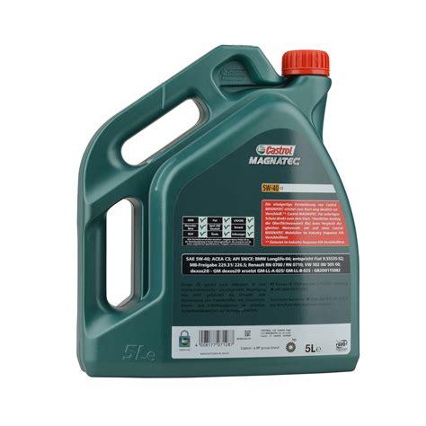 castrol magnatec 5w 40 c3 5 liter