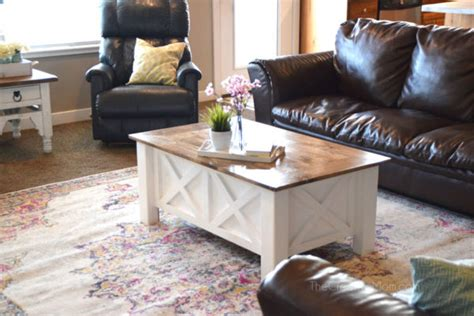 farmhouse x coffee table how to build a farmhouse coffee table with storage free