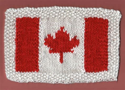 pattern weights canada canadian flag dishcloth free pattern