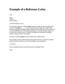 personal character reference letter template design