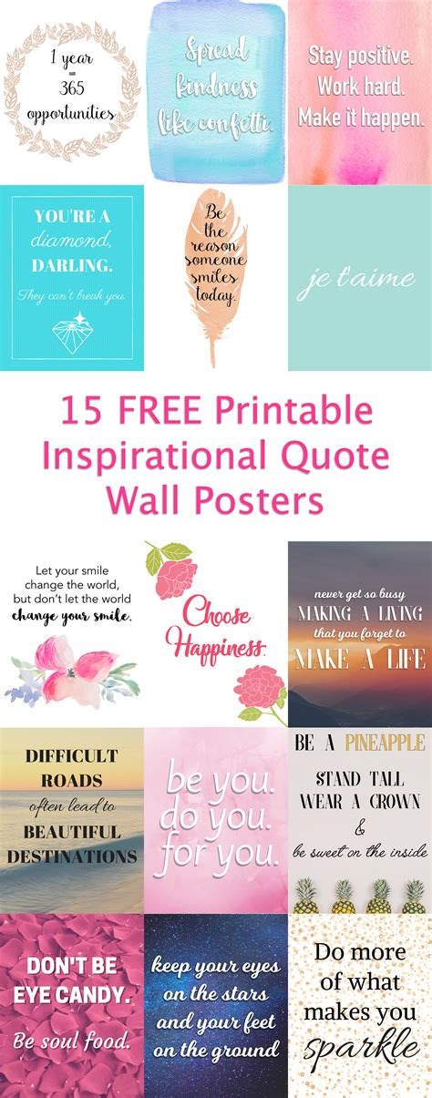 printable quotes for work i created 15 free printable inspirational quote posters