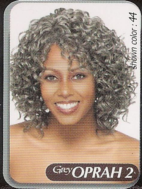gray hair pieces for american vanessa medium curly oprah 2 gray wig ebay