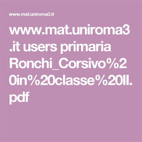 lettere uniroma3 www mat uniroma3 it users primaria ronchi corsivo 20in