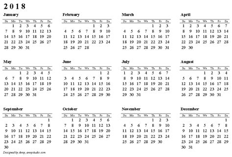 printable calendar 2018 thailand 2018 calendar printable templates blank calendar