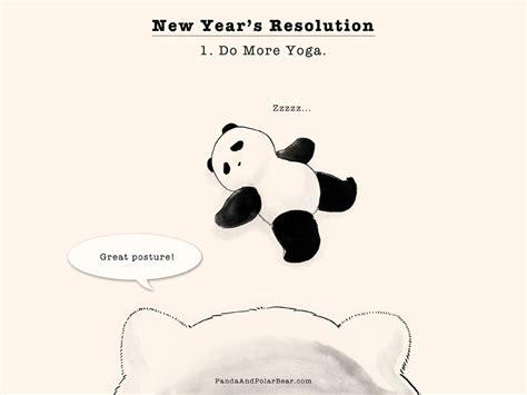 yoga themes new year yoga panda and polar bear
