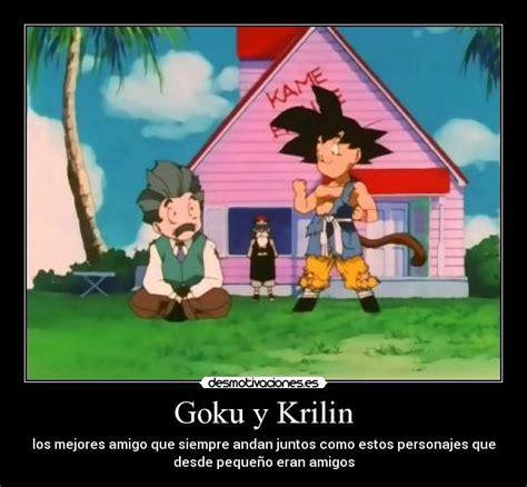 imagenes de goku y krilin goku y krilin desmotivaciones