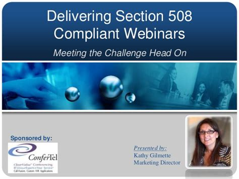 section 508 compliant delivering section 508 compliant webinars made easy