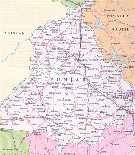 map of punjab the beaten track in punjab page 6 india travel