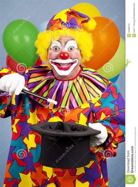 clown  magic trick stock image image  helium makeup