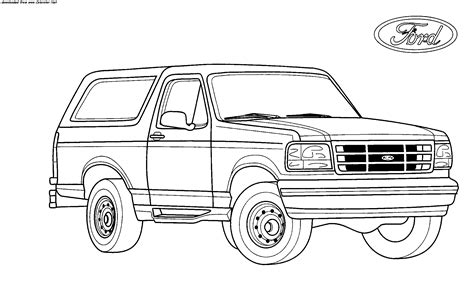 4x4 Sketches by Bronco Coloring Page Coloring Home