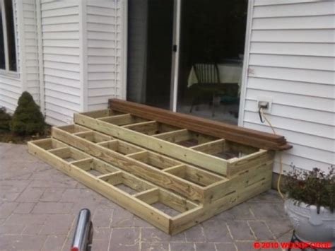 How To Build Porch Steps From Wood wooden patio steps porch stairs outdoor ideas stains decks and herbs garden