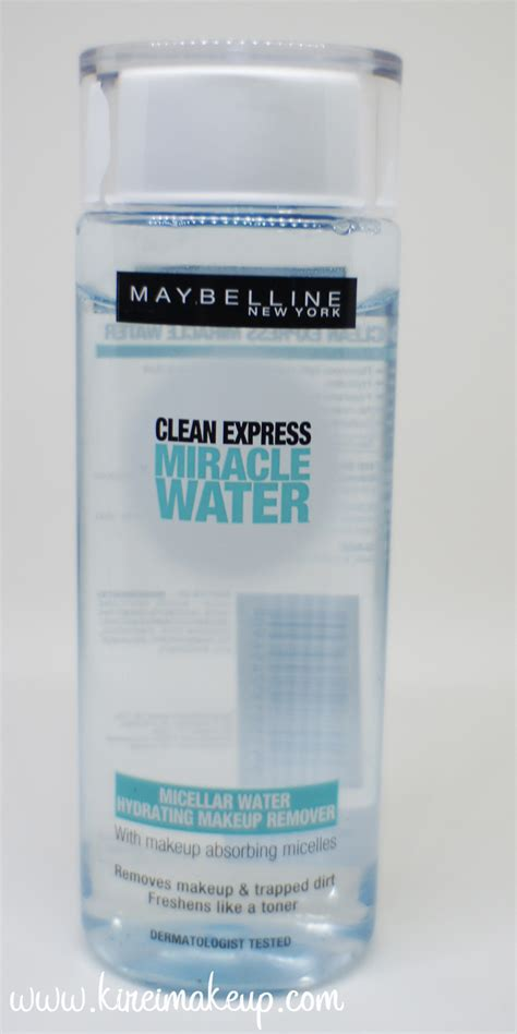 Maybelline Micellar Water maybelline clean express clic eye makeup remover review
