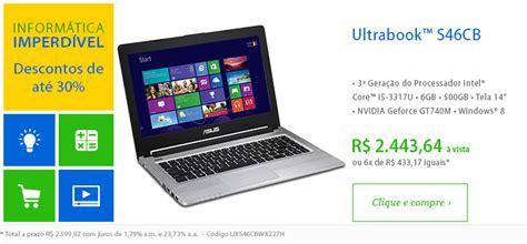 Laptop Asus I3 S46cb Wx004h recomendados de hoje notebook bom at 233 30 de desconto