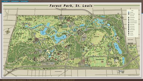 forest park map mapcraft custom cartography forest park