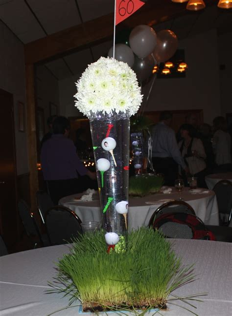 centerpieces for golf party theme golf tournament ideas