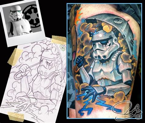 tattoo old school star wars star wars storm trooper tattoo by scotty munster tattoonow