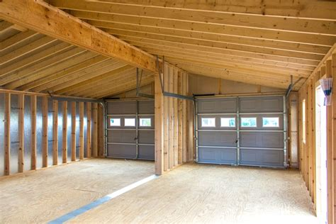 24x30 Garage by 24x30 Vinyl Modular 2 Car Garage Byler Barns