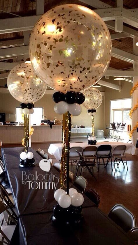 clear 3 foot balloons jazzed up with confetti an