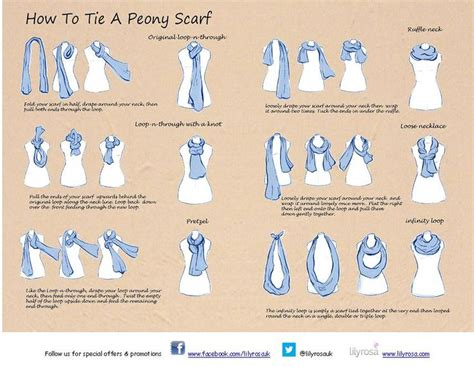 printable instructions to tie a scarf how to tie a scarf google search scarves pinterest