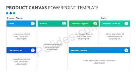Product Canvas Powerpoint Template Pslides Canvas Template