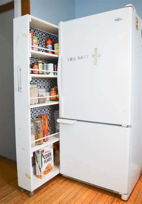Diy Slide Out Pantry by 20 Faux Kitchen Pantry Ideas Stow Tellu