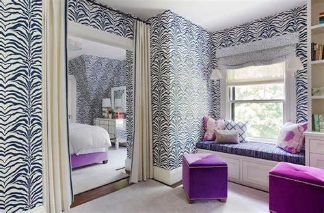 zebra wallpaper for bedrooms zebrine wallpaper contemporary bedroom liz caan