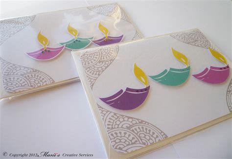 Handmade Diwali Cards - pin diwali cards handmade happy card greeting on