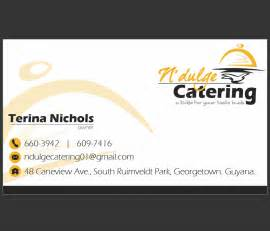 catering business card four degrees ict consultancy n dulge catering business
