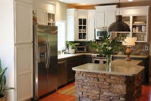 Stone Kitchen Island How To Add Height To Your Kitchen Cabinets