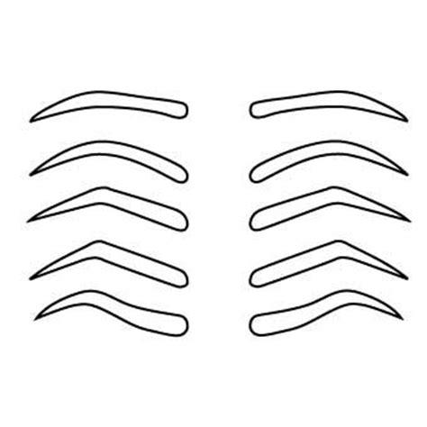 free printable eyebrow stencils pdf 388 best images about design de sobrancelha on pinterest