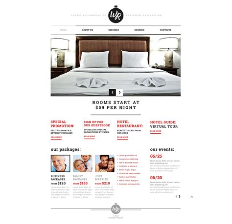 responsive website templates for quiz hotels responsive website template 45249 by wt website
