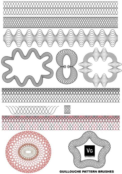 adobe illustrator pattern brush free vector guilloche patterns illustrator brushes free